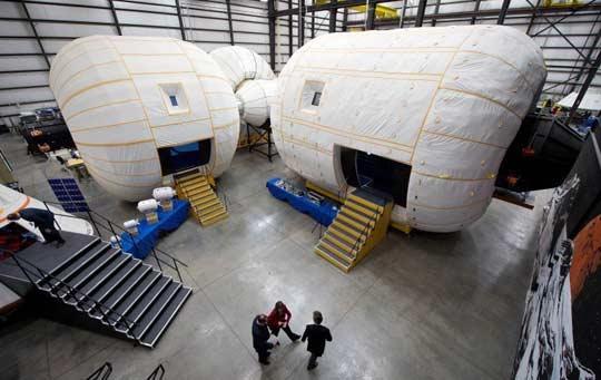 اقامتگاه بادی برای ساکنان ایستگاه فضایی بینالمللی
