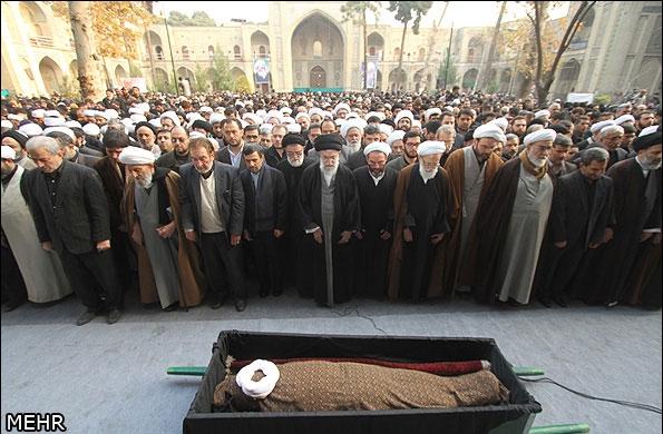 تشییع مرحوم آیت الله مجتبی تهرانی