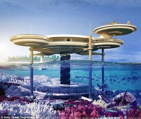 بنای بزرگترین هتل زیردریایی جهان در دبی