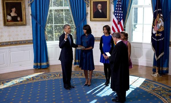 دومین سوگند اوباما