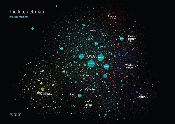 نقشه جهان اینترنت