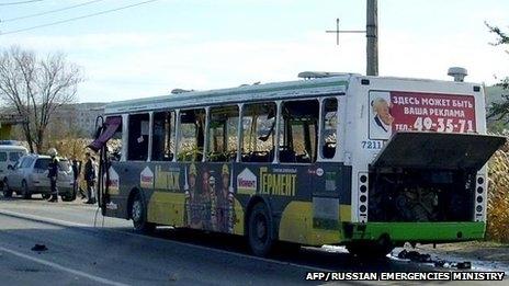 انفجار بمب در اتوبوس در روسیه ۵ کشته برجای گذاشت