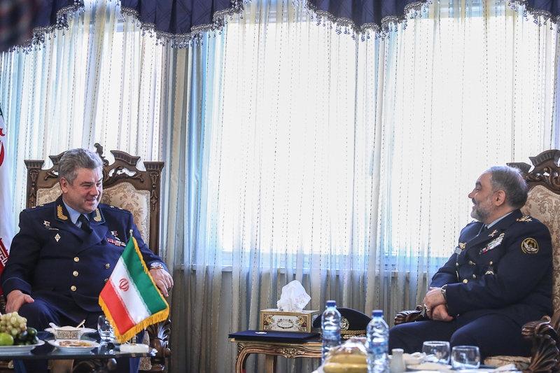 تصاویر دیدار فرماندهان نیروی هوایی ایران و روسیه
