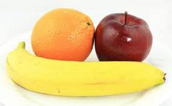 سیب، موز، پرتقال