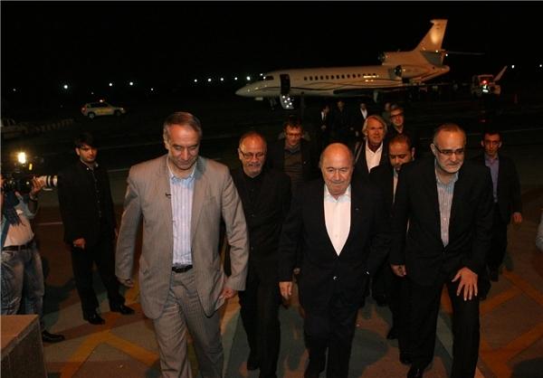 اولین حرفها و تصاویر سپ بلاتر پس از ورود به تهران