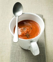 سوپ فلفل دلمهای