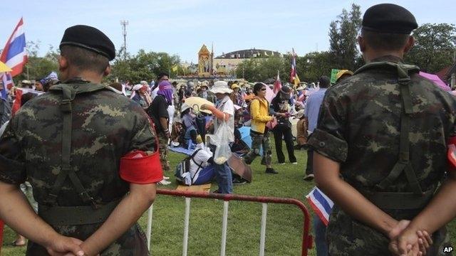ستاد مشترک ارتش تایلند در دست معترضان