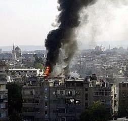 حمله تروریست ها به سفارت روسیه در دمشق