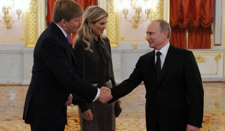 دیدار پوتین با پادشاه هلند