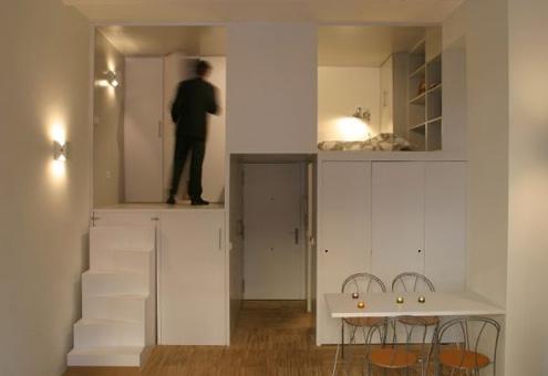 این هم طراحی پازلی آپارتمان ۲۸ متری