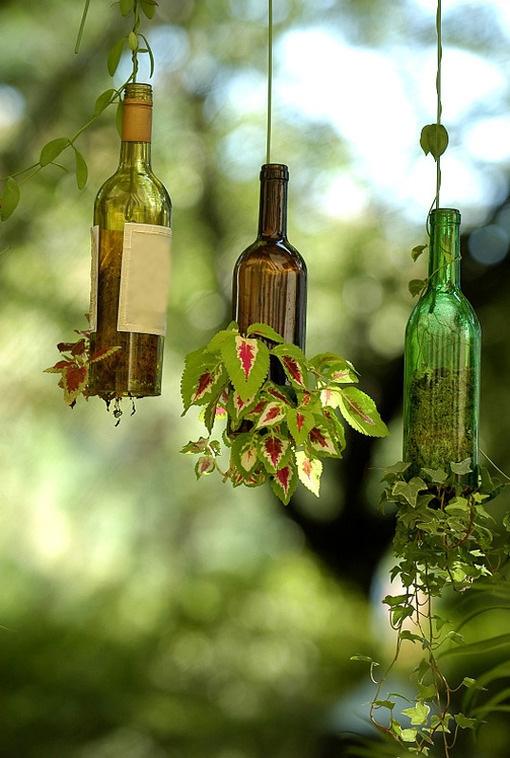 تبدیل بطری به گلدان آویز