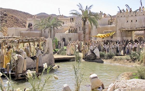 نمایی از دکور شهر مکه در زمان کودکی پیامبر اسلام