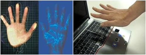 اسکن رگ کف دست، رمز عبور غیر قابل سرقت