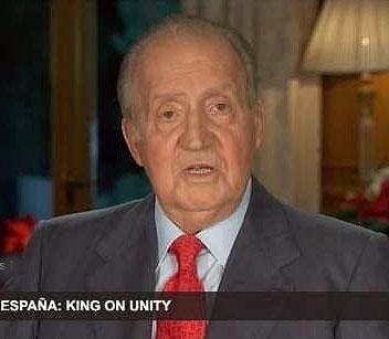 شبکه تلویزیونی کاتالونیا نطق پادشاه اسپانیا را قطع کرد