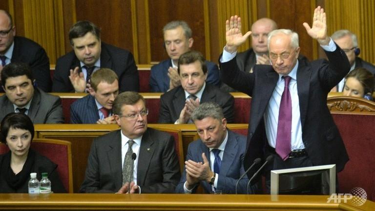 دولت اوکراین بار دیگر از مجلس رای اعتماد گرفت