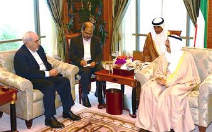 ظریف پیام روحانی را به امیر کویت ابلاغ کرد
