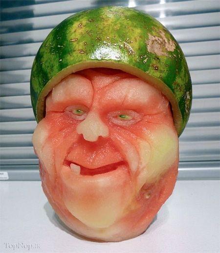 چهرههای سینمایی بر روی هندوانه
