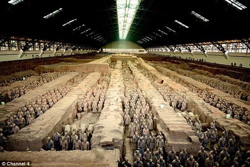 کشف سلاحهای پیشرفته در ارتش سفالین چین