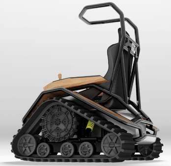 ساخت ویلچری برای حرکت در مسیرهای سخت و دشوار