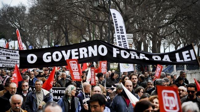 تظاهرات سراسری در پرتغال