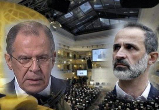 اولین دیدار لاوروف و رهبر مخالفان سوریه در آلمان