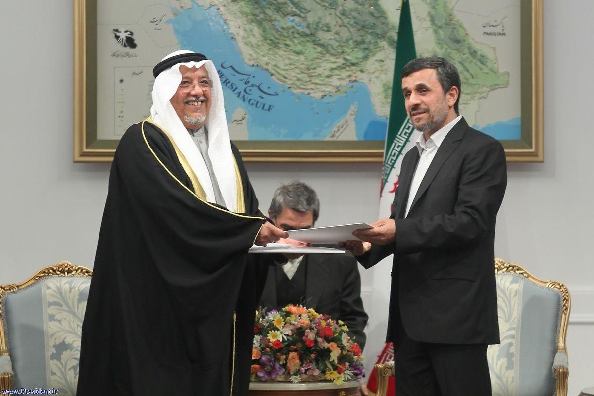 پیام امیر کویت به احمدی نژاد