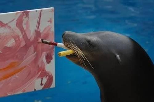 حیوانات نقاش