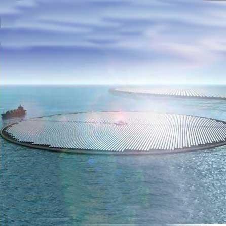 طراحی جزایر خورشیدی شناور با چرخش 220 درجه