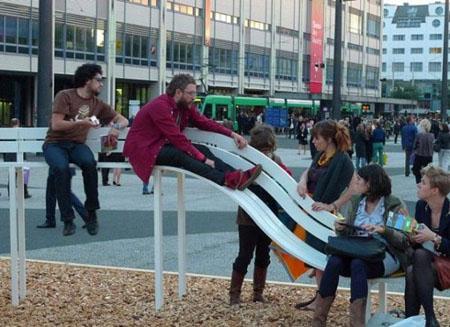 نیمکتهای دیوانه در دانمارک