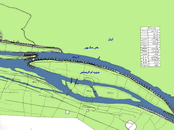 نقشه عملیات والفجر 8 در جزیره ام الرصاص