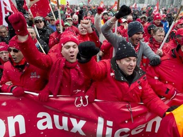 عکس روز؛ تظاهرات علیه سران اروپا
