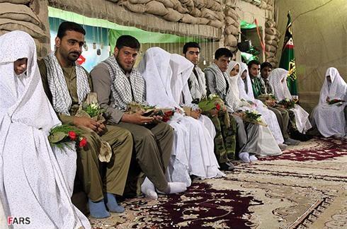 ازدواج هشت زوج در شلمچه