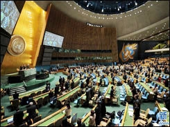 یک دقیقه سکوت در مجمع عمومی سازمان ملل به احترام چاوز