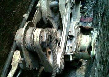 چرخ یکی از هواپیماهای 11 سپتامبر