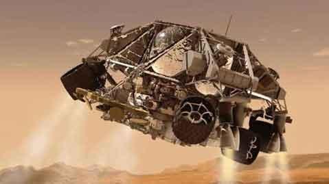 فرود مریخ نورد کنجکاوی
