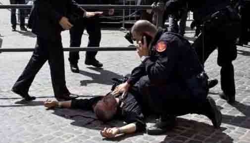ایتالیا تیراندازی پلیس مجروح