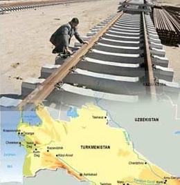 روزهای پایانی ساخت راه آهن ایران - ترکمنستان