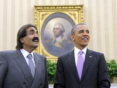 دیدار امیر قطر با اوباما در کاخ سفید