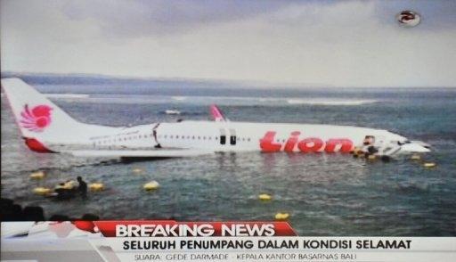 سقوط یک هواپیمای مسافربری در آبهای سواحل بالی اندونزی