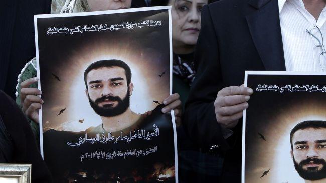 فلسطینیها به نشانه همبستگی با زندانیان فلسطینی تحصن کردند