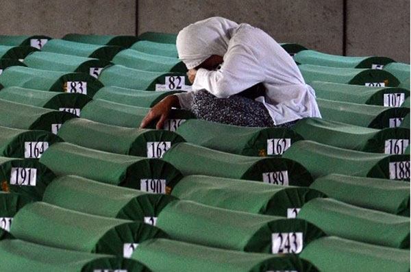 Thousands of Bosnians, mostly Muslims, were killed by the Serbs during the Balkan War between 1992-1996