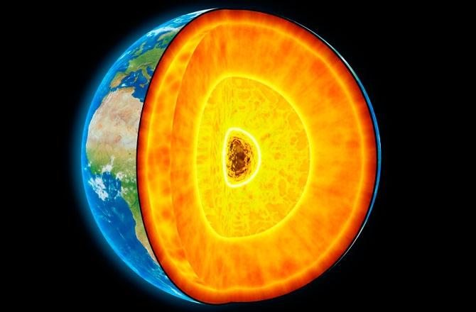 هسته زمین به داغی خورشید است