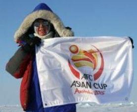 پرچم جام ملتهای 2015 آسیا به قطب شمال رفت