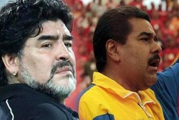 اعلام حمایت مارادونا از ریاست جمهوری مادورو