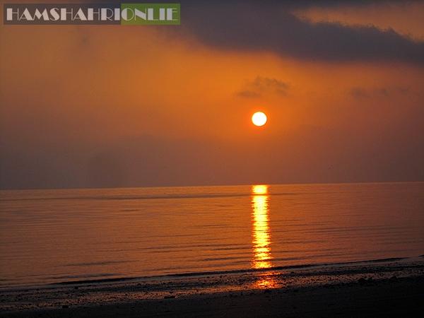 تصاویری از منظره طلوع خورشید در جزیره قشم در خلیج فارس