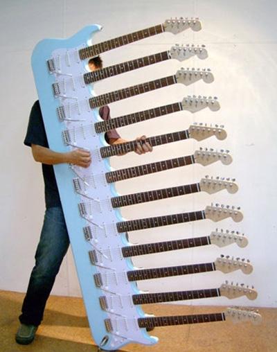 12 گیتار با 72 تار
