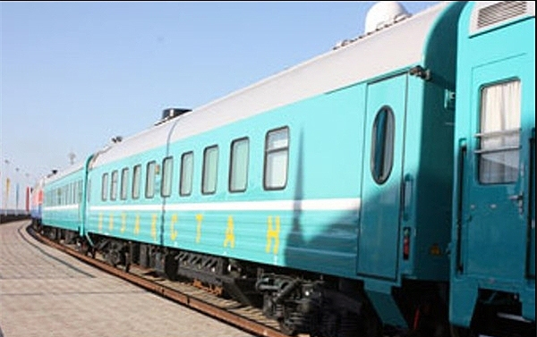 بخش قزاقی خط آهن قزاقستان ـ ترکمنستان ـ ایران افتتاح شد