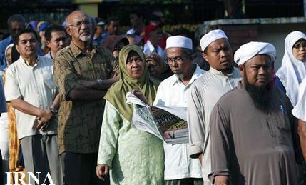 حضور گسترده مردم در انتخابات پارلمانی مالزی