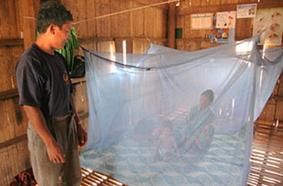 پیشگیری از گزش پشه ناقل مالاریا