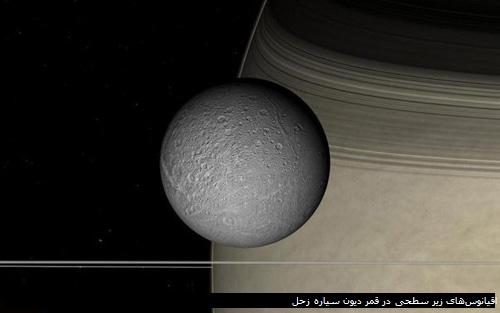 اقیانوسهای زیر سطحی در قمر دیون سیاره زحل